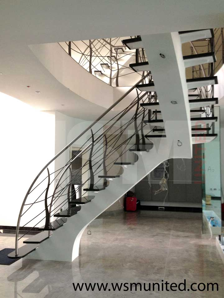 Elegant Contemporary Curved Staircases   WSMU Ltd   Bespoke Curved
