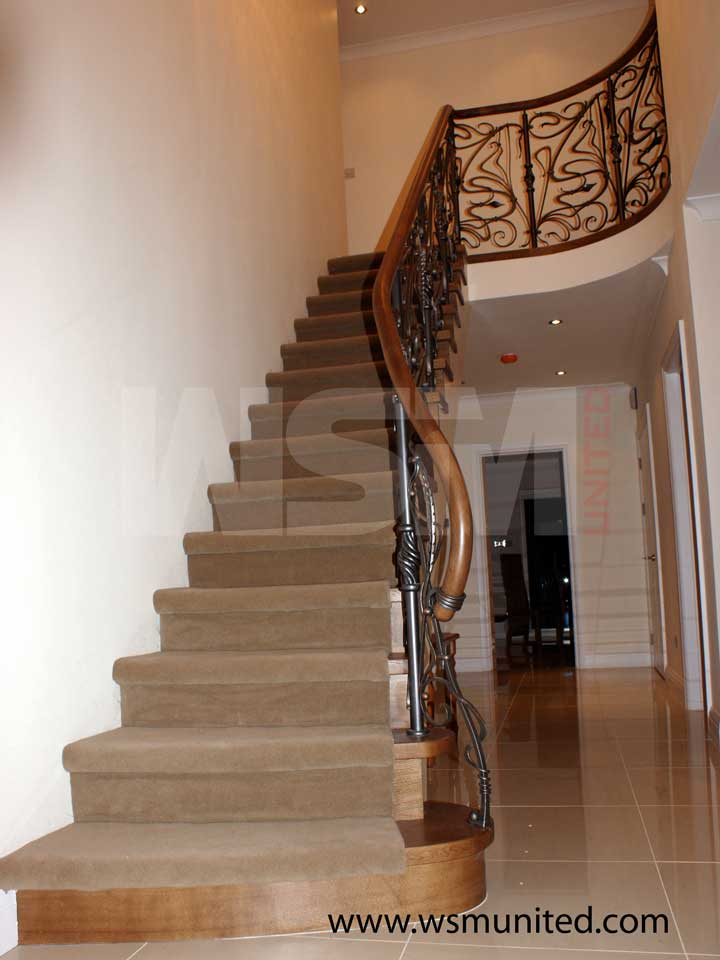Elegant Contemporary Curved Staircases Wsmu Ltd