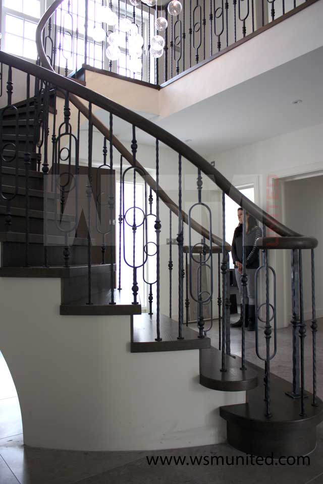 Bespoke Freestanding Curved Staircase Wsmu Ltd Curved