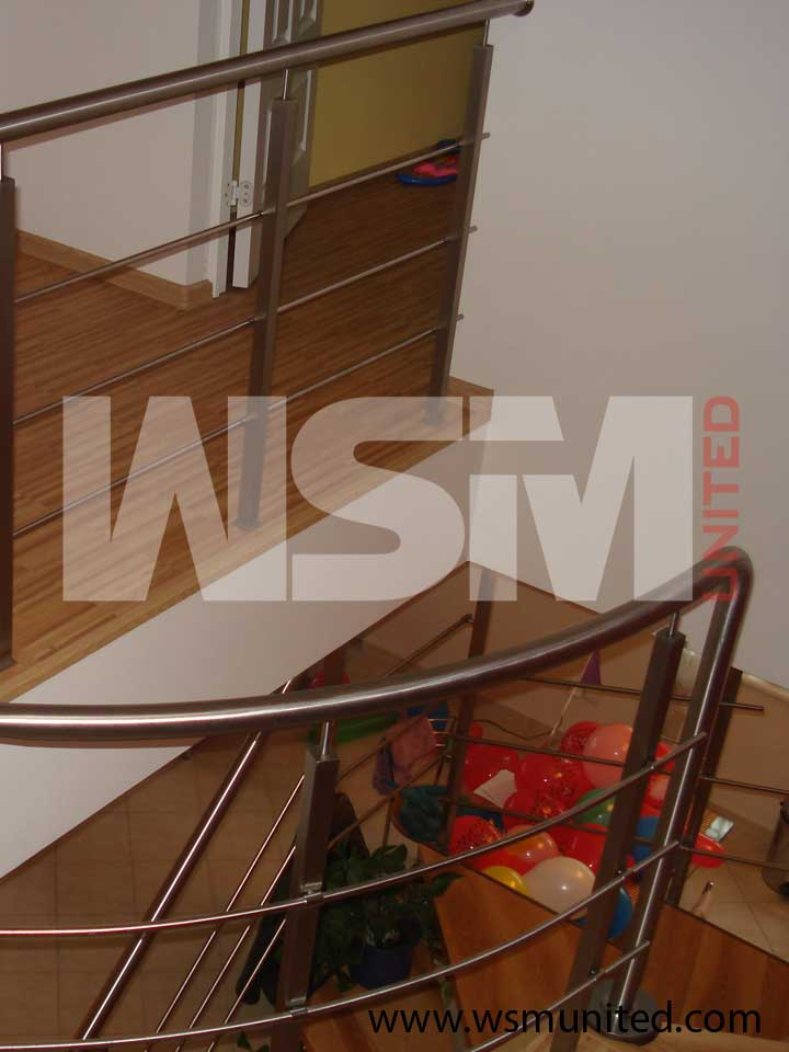 Designer Two Side Support Stairs Contemporary Stringer