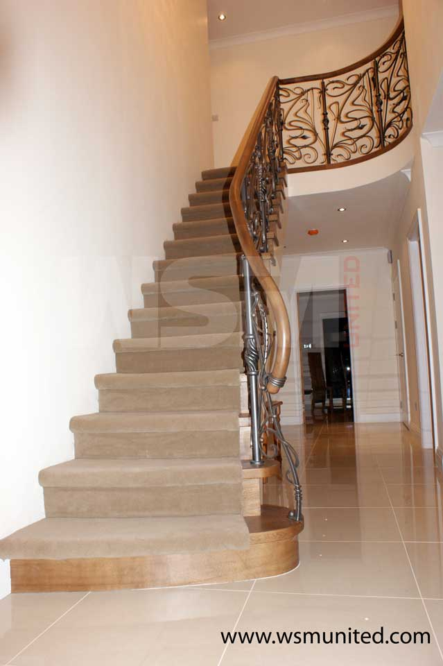 Bespoke Two Side Support Stairs Contemporary Stringer
