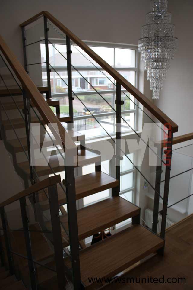 Elegant Bespoke Two Side Support Staircases Wsmu Ltd